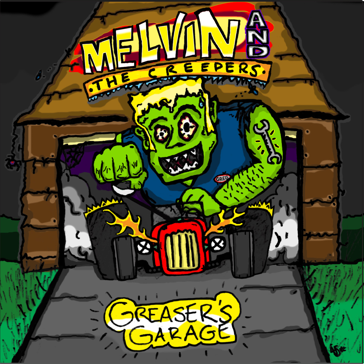 Melvin and the Creepers - Greaser's Garage