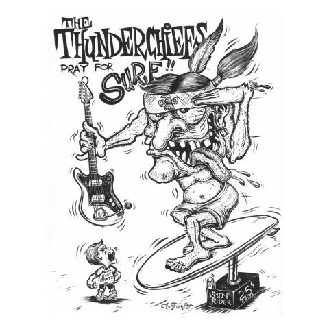 "The Thunderchiefs - Crystal Beach/Creature From the Surfers Lagoon 7"""