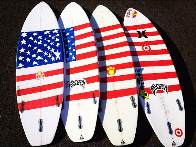 American Flag Surfboards